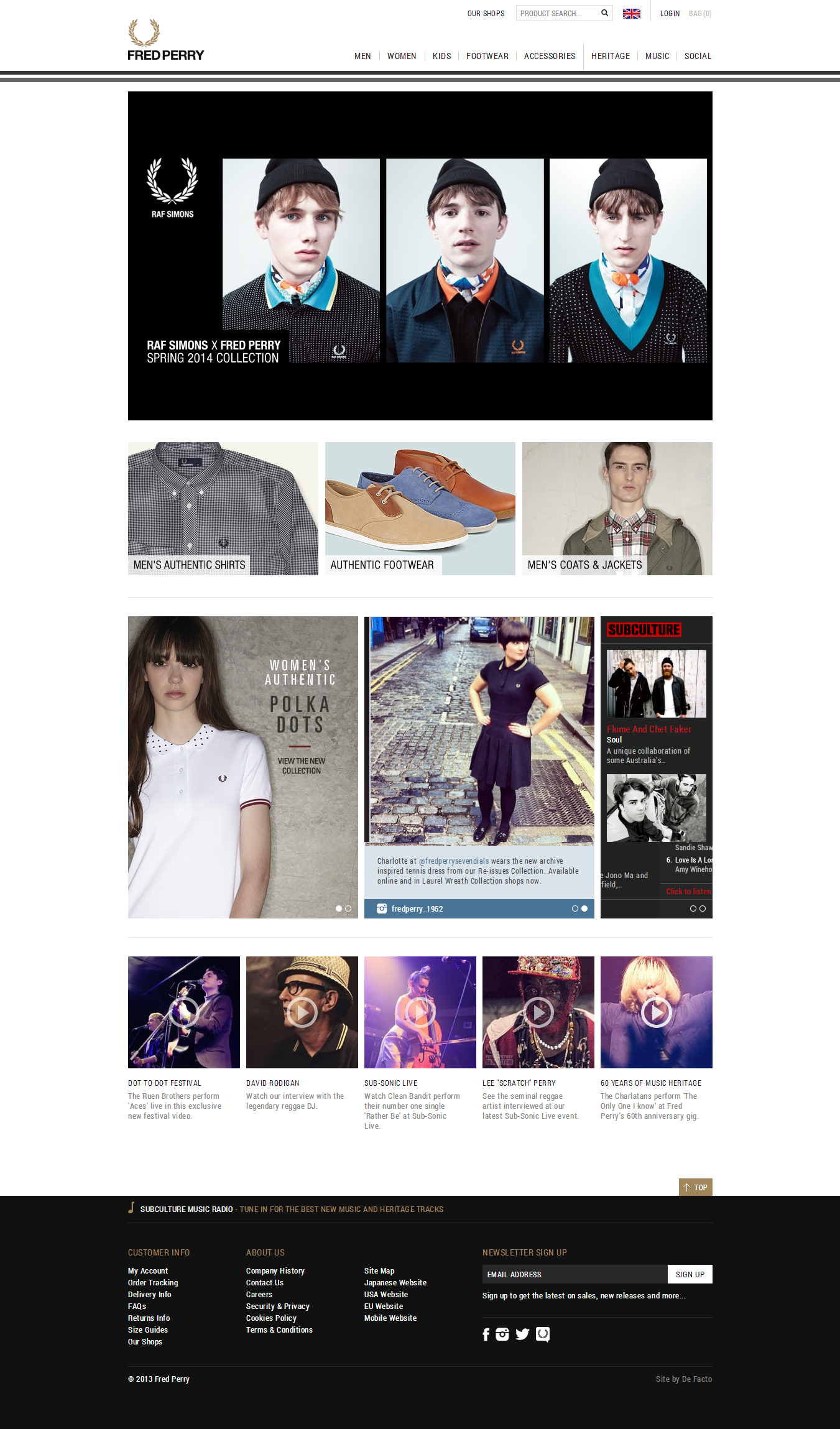 Fred Perry Home Page