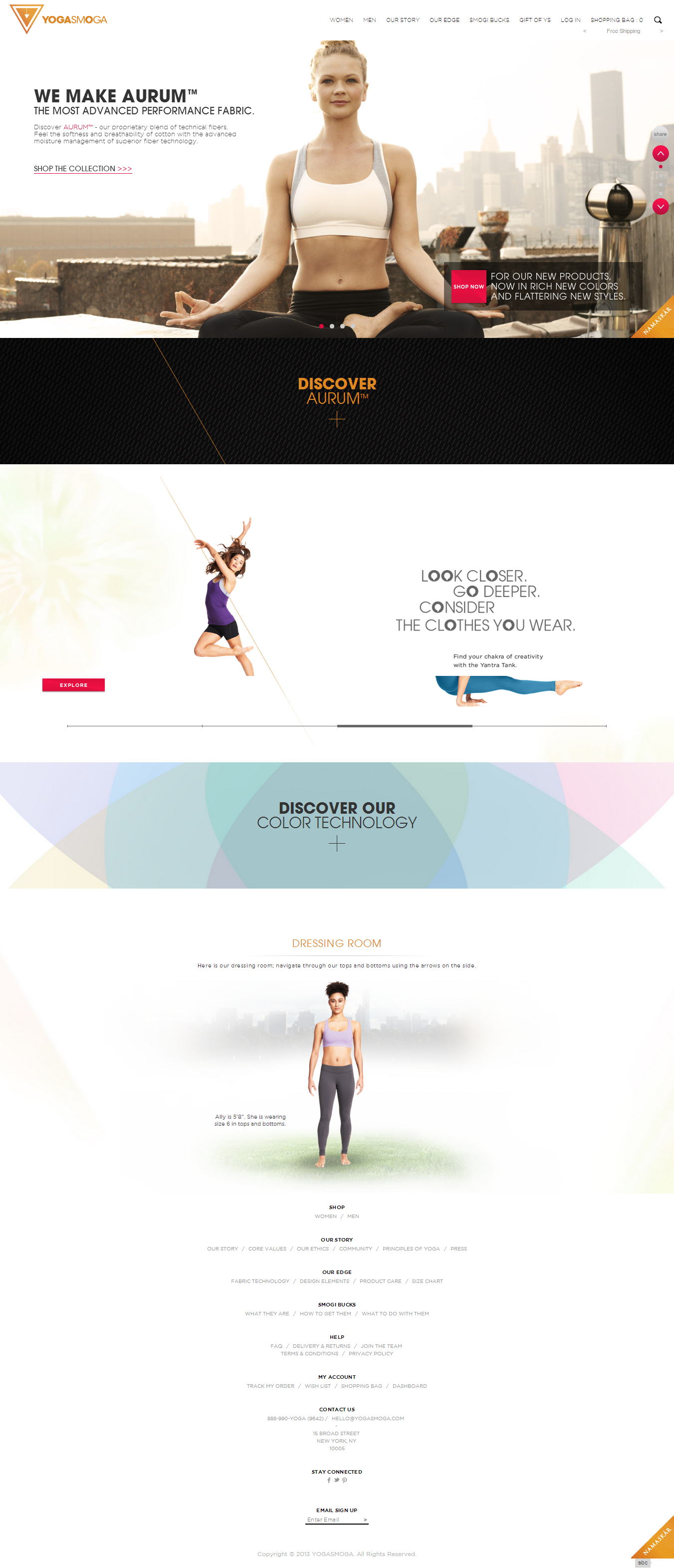 YOGASMOGA Yoga Clothes Running Spin and Athletic Workout Apparel.